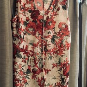 Adele and May Tops - Adele & May XL Floral Rose Sleeveless Top
